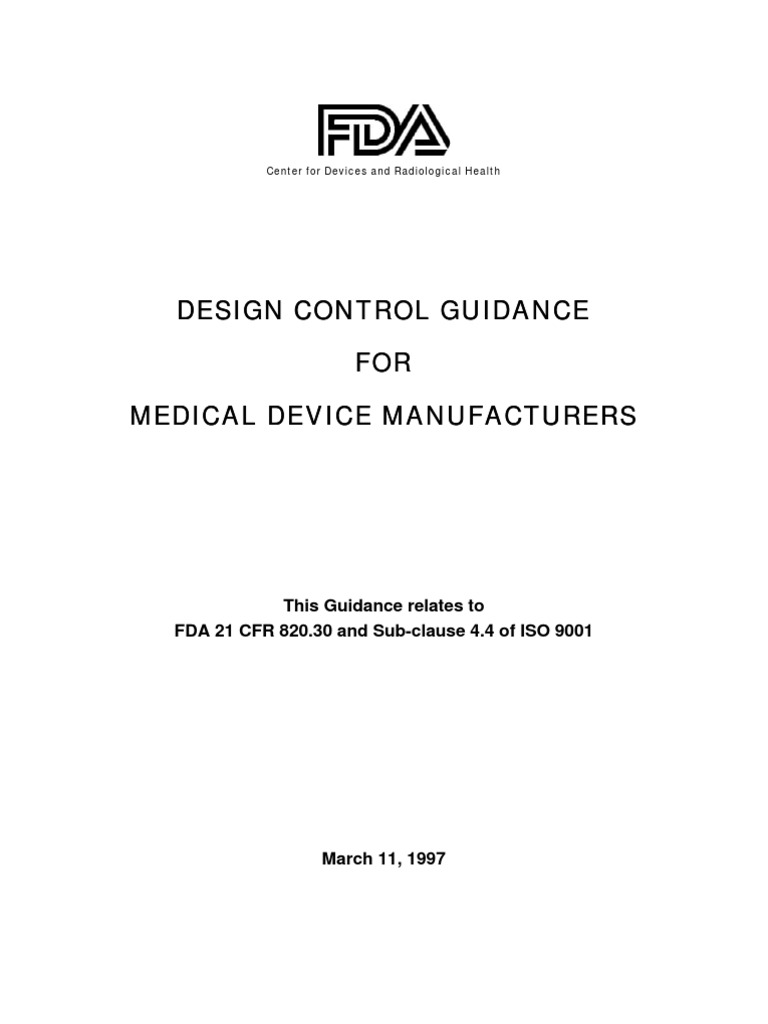 Design Control Changes For Medical Devices Quality