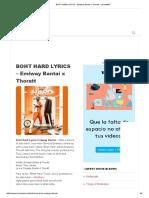 BOHT HARD LYRICS - Emiway Bantai x Thoratt - LyricsMINT