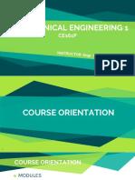 Course Orientation CE161P