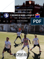 FC Britanico Matchday Programme 25th November 2018