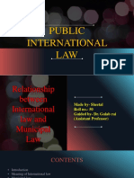Relationship between international law and Municipal law Ppt