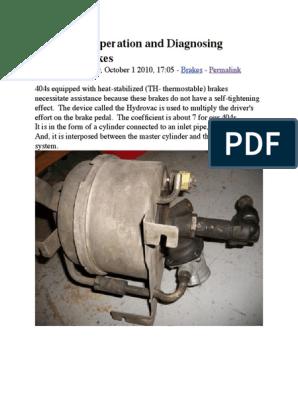Peugeot Hyrdrovac | Valve | Brake