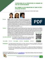 La Terapia Ocupacional en La Percepción de Cuidados de Pacientes Post ACV Hospitalizados.