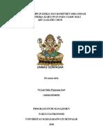 Pengaruh Disiplin Kerja Dan Komitmen Organisasi