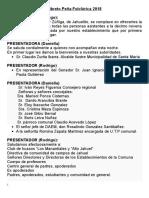 Libreto Peña Folclorica 2018 Daniella