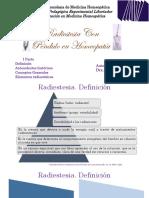 Homeopatía. Presentación de Radiestesia Parte 1