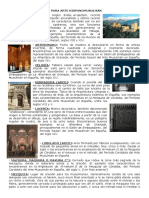 Glosario para Arte Hispanomusulmán