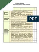Criterios en El Proceso de La Planificación de Unidad