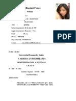 Cv Meliza 2016 Actualizado