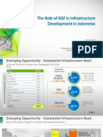 The Role of IIGF in Infrastructure Development in Indonesia