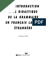 Didactique de La Grammaire