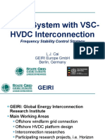hvdc interconnection with vsc