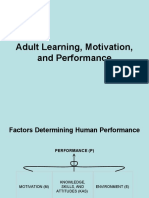 Adult Learning, Motivation, and Performance