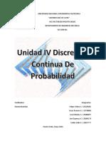 Unidad IV Discrecion Continua de Probabilidad