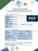 Guía de Actividades y Rúbrica de Evaluación Fase 4 – Diseñar y Ejecutar Un Plan Para Solucionar El Problema Planteado