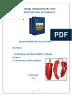Planta Productora de Aji Paprika-shessira