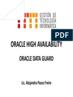 Oracle High Availability Oracle Data Guard