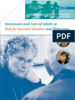 Assessment and Care of Adults at Risk for Suicidal Ideation and Behaviour