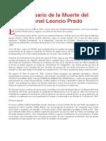Muerte de Leoncio Prado
