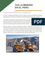 IMPORTANCIA LA MINERÍA PERUANA EN EL PERÚ
