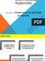 Sistemas en La Actividad Probatoria