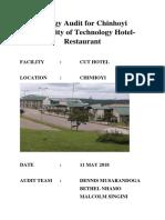 Energy Consumption Audit for Chinhoyi University of Technology Hotel