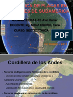 Tectonica de Placs en Los Andes de Sudamerica