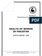 Health of Women in Pakistan SOGP Annual Report 2009