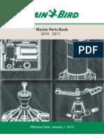2010 Master Parts Book Rain BIrd