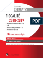 Partiels 2018 Lextenso Étudiant Jour 5 - L3 - Droit Fiscal (Gualino - Exos LMD)