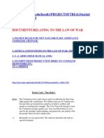 Documents Relating to the Law of War My Lai