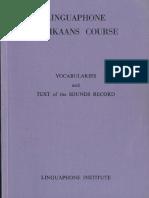 Linguaphone Afrikaans Course. Vocabularies (1950)