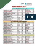 Calendario Galego Por Ligas Actualizado 06.04.2018