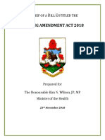 Nursing Amendment Act 2018 Second Reading Brief
