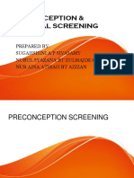 Preconception & Prenatal Screening