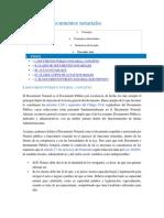 Actas y Documentos Notariales