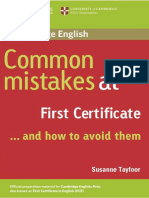 Muestra Common Mistakes at FCE