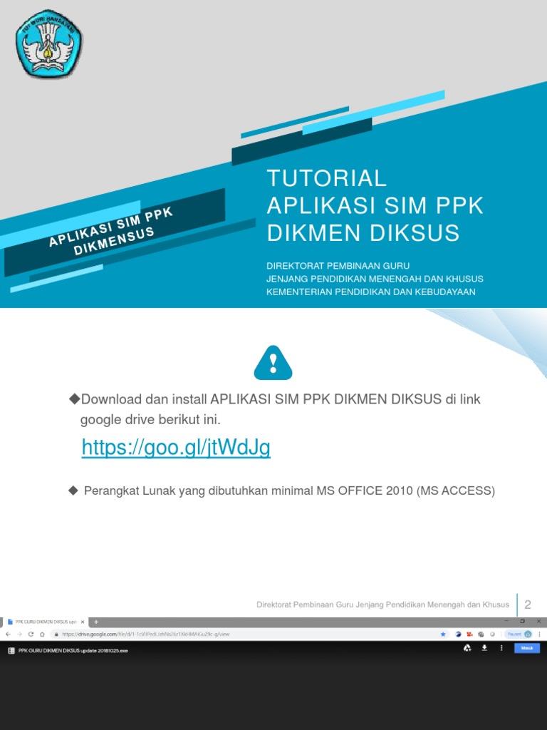 Tutorial Aplikasi Sim Ppk Dikmensus 1