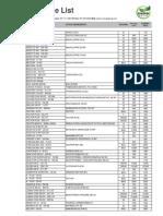 Rate List Suncrop