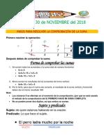 Tareas 1° Del 26 al 30 NOVIEMBRE 2018 HOY-converted