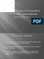Rules of Origin in Canada's New Trade Agreements