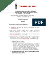 Indice Propuesta Tecnica y Economica 2014
