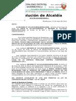 Resolucion N° 078 - Resolucion de Contrato