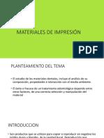 Clase 4 Materiales de Impresión Hidrocoloides