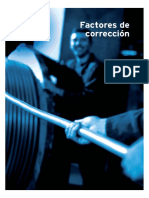 Tablas de Factores de Correccion