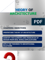 Intro to Theory of Architecture