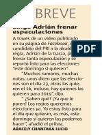 23-11-18 Exige Adrián frenar especulaciones