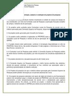 1 Normas Para Apresentação de Projetos de Pesquisa