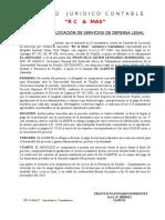 Contrato de Locación de Servicios de Defensa Legal Sobre Vacaciones Adicionales