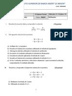 Examen 3 Parcial Matemáticas I La Mision